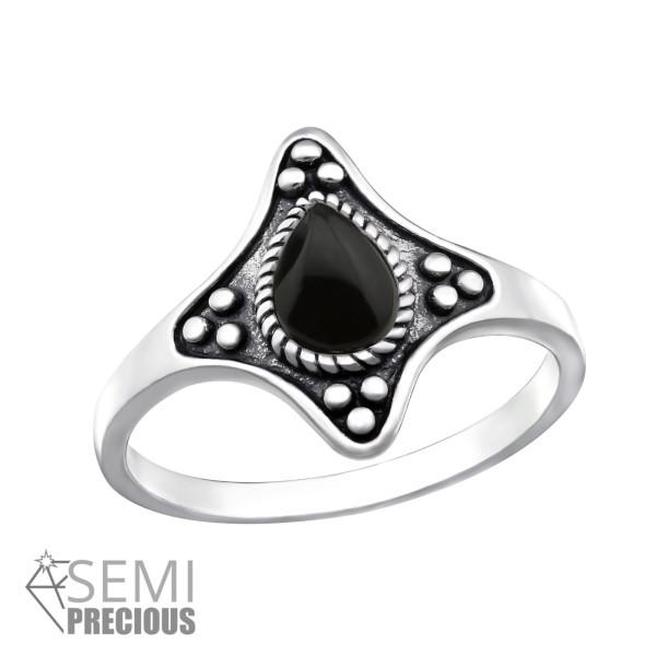 Jeweled Ring RG-JB9621-S-OX BK.ONYX/32337