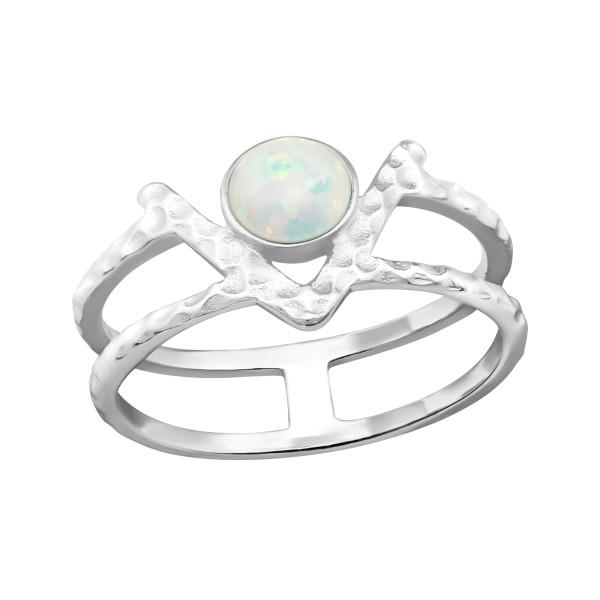 Jeweled Ring RG-JB9682 FIRE SNOW/32349