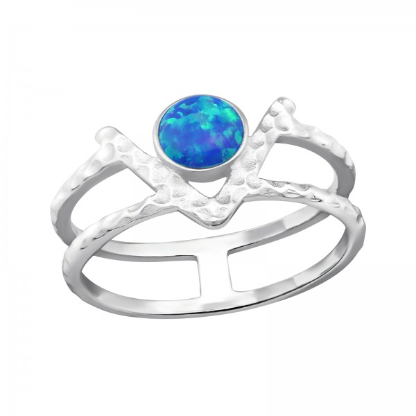 Jeweled Ring RG-JB9682 PACIFIC BLUE/32350