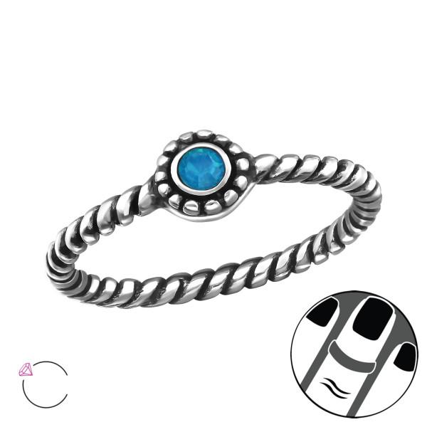 Midi Ring MRG-JB7375-SWR-OX CARIBBEAN BLUE OP/28146
