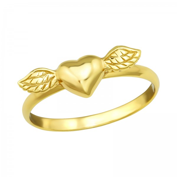 7630db50c Silver Winged Heart Ring - 4581 | ELF925