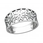 Silver Flower Ring, #38598