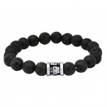 High Polish Surgical Steel Lava Bracelet for Men, #28560