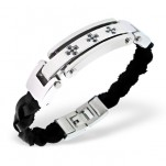 High Polish Surgical Steel Tag Bracelet for Men, #1892