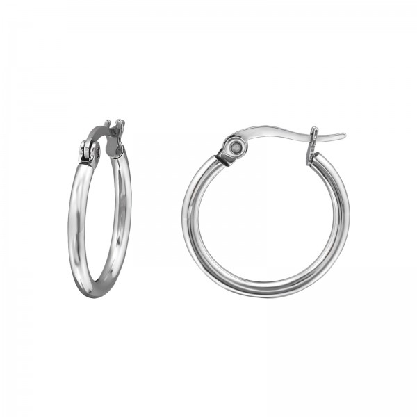 927affd95 25mm High Polish Surgical Steel Hoops, 8354