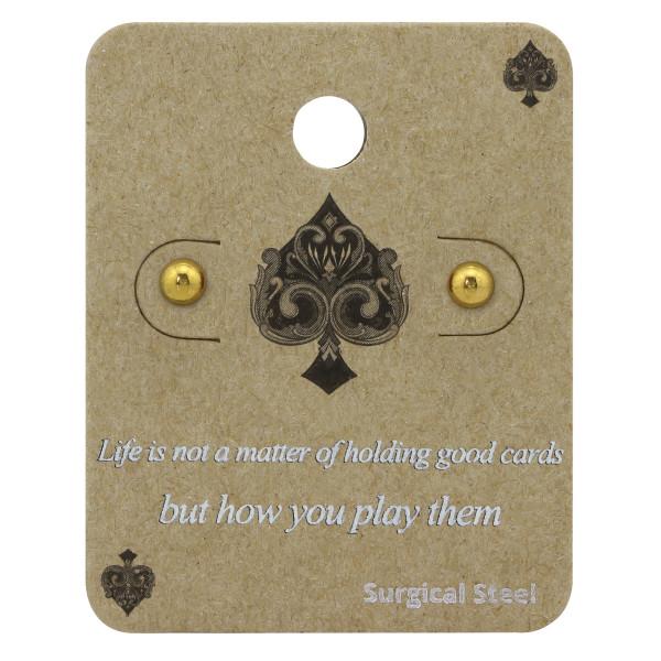 Set & Jewelry on Card CS1-SES-422-4GD/34224