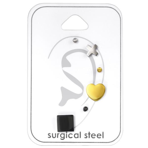 Set & Jewelry on Card SES-422-2SS/SES-710-SS/SES-422-2GD/SES-062-GD/SES-422-2BK/SES-464-BK/33444