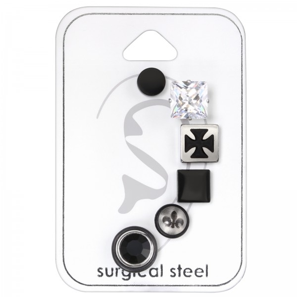Set & Jewelry on Card SES-463-BK/SES-056-8 CRY/SES-606/SES-464-BK/SSE-021S/SES-050-8/33443