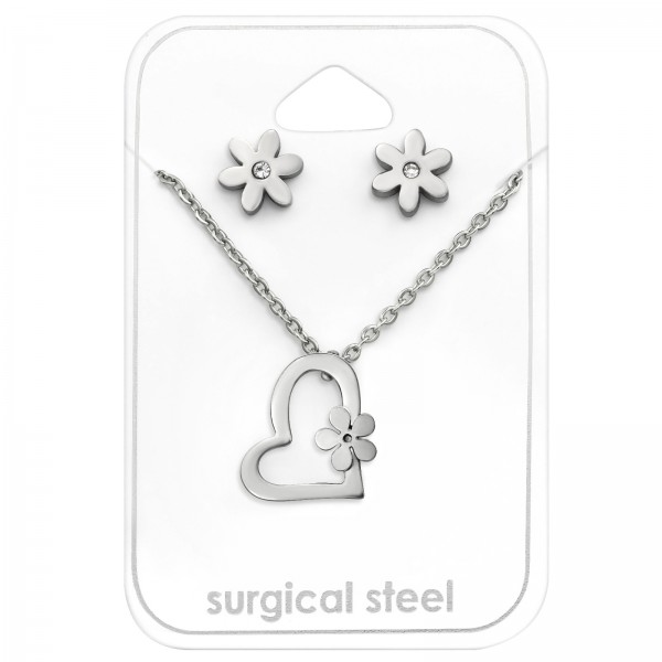 Set & Jewelry on Card SES-519-SS/SNK-615/30135