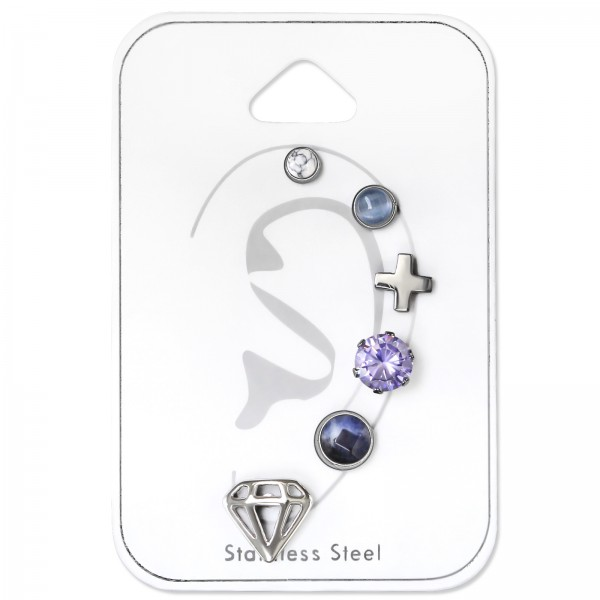 Set & Jewelry on Card SES-634-3SS-S/SES-634-4SS-CE/SES-710-SS/SES-055-6SS/SES-634-5SS-S-FC/SES-470-SS/34519