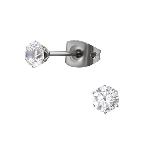Titanium Ear Stud SES-055-TI-4SS/33178