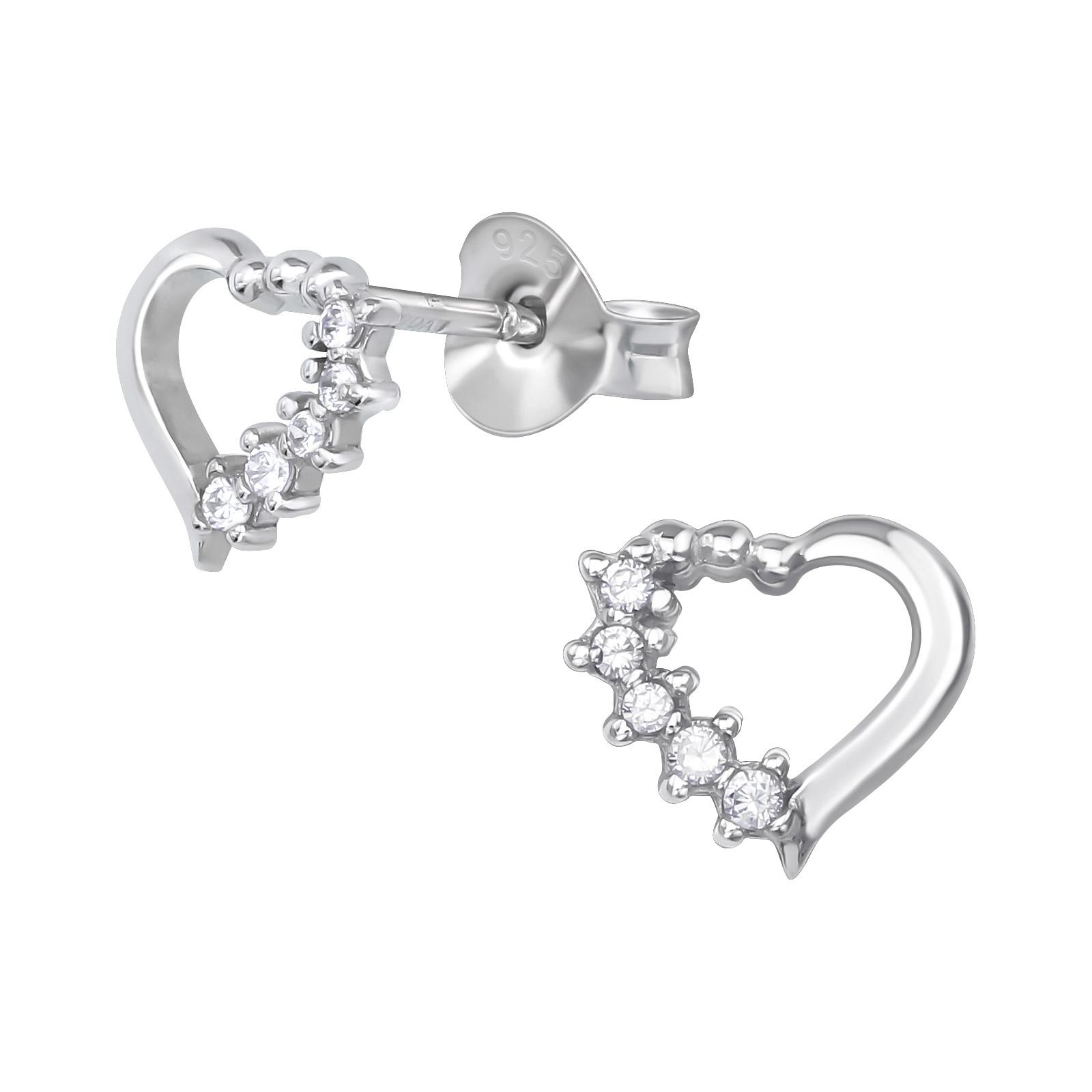 Mens Womens Fashion Pink Heart Lollipop Bow Stainless Steel Stud Earrings New